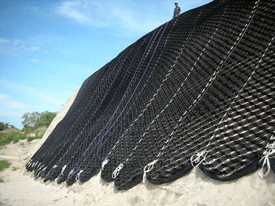 Slope Protection by Geo cells-Image Courtesy: Geosynthetica