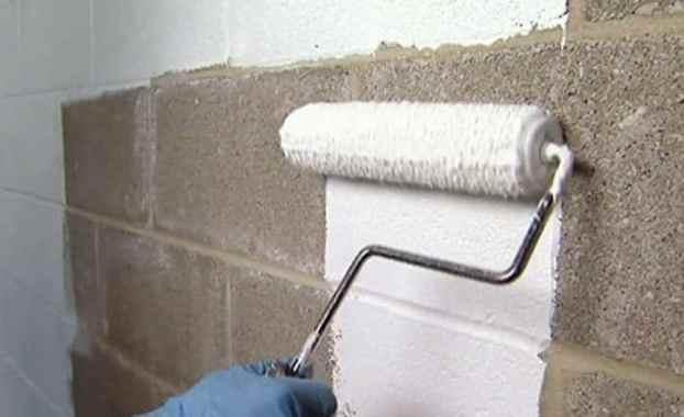 Damp proofing of exterior walls.