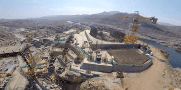 Foundation of statue of unity