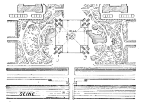 Plan view of foundation of Eiffel tower