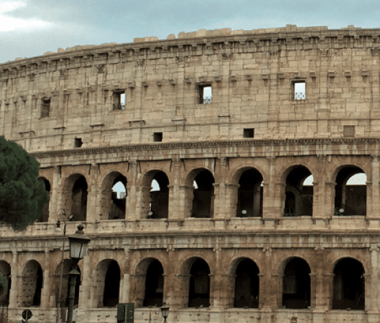 Arches that made the construction of Colosseum possible.