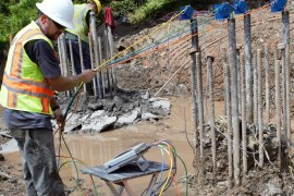 Crosshole Sonic Logging Pile Test for Foundation Integrity