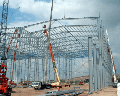Erection of Warehouse Steel Structure