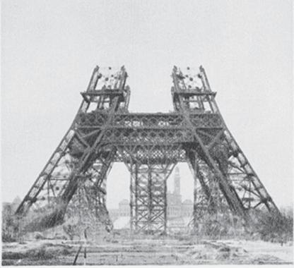construction till 1st floor level of Eiffel tower
