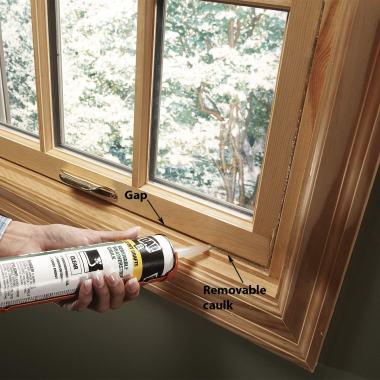 Air Sealing Windows; Image Courtesy: The Family Handyman