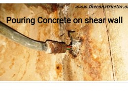 How to treat the under design poured concrete on shearwall?