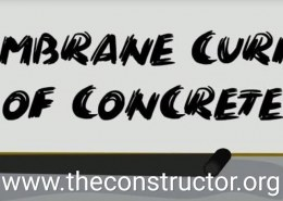 What is membrane curing of concrete?