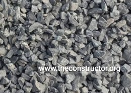 Which size of aggregate used in RCC structure?