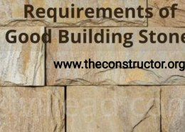 What are the properties of good building stones?