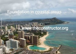 Which type of foundation should be used in Coastal Area and Sloping ground?