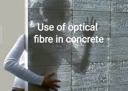 What is the use of plastic optical fibre in concrete?