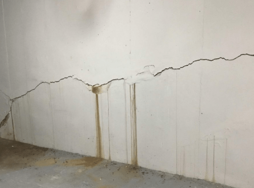 cracks in wall  to foundation instability