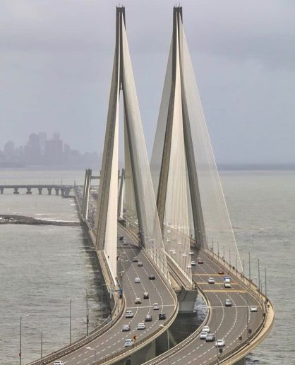 India's longest cable-stayed bridge