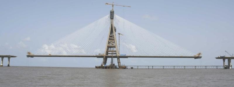 Deck of the Bandra-Worli Bridge