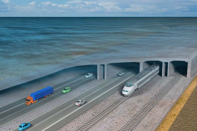 World's Longest Immersed Road/Rail Tunnel Takes Shape