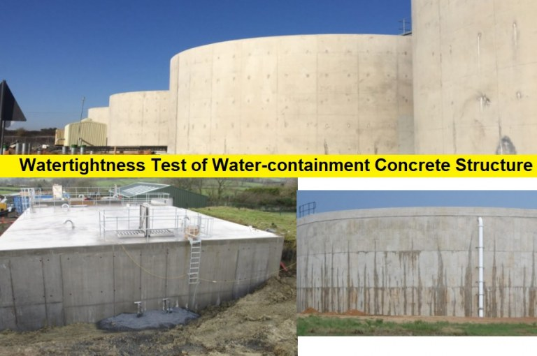 How to Test Reinforced Concrete Structures for Watertightness?