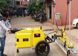 how to construct through laser screed machine