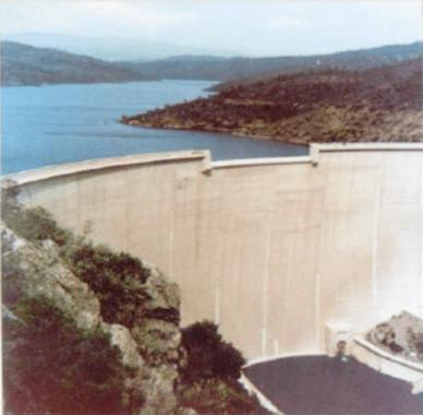Worlds first failure of an arch dam