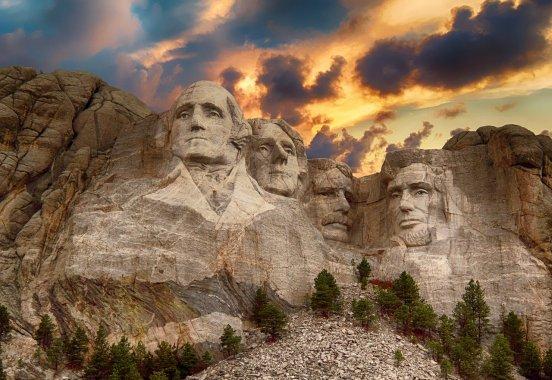 Mount Rushmore Monument during evening