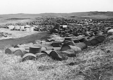 During the construction of Read Avenue, metal drums were uncovered during the excavation work.