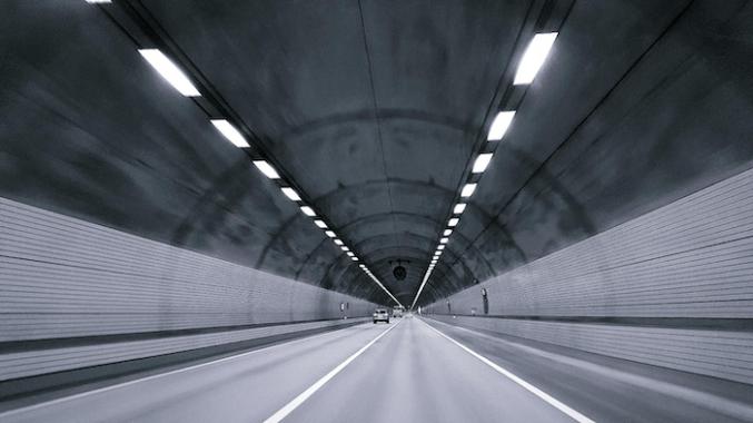 Installation of solar panels for tunnel illumination