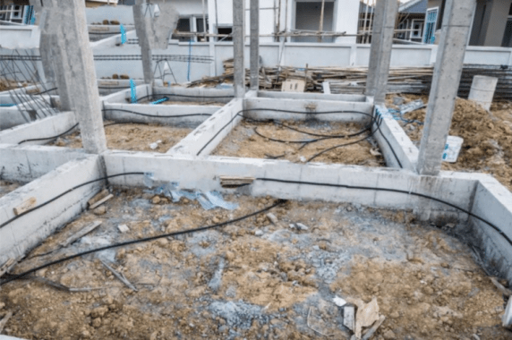 Reticulation system installation at Plinth level
