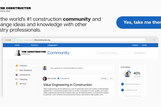 Join the World's First Construction Community
