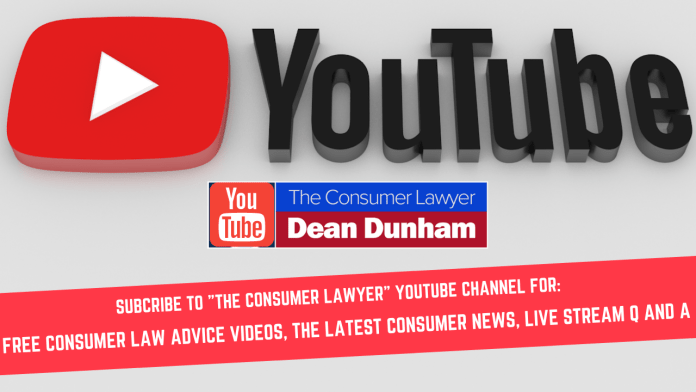 SUBSCRIBE TO THE CONSUMER LAWYER YOUTUBE CHANNEL