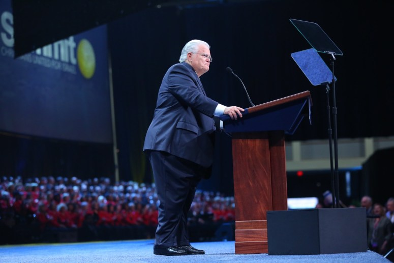 Hagee at CUFI Podium