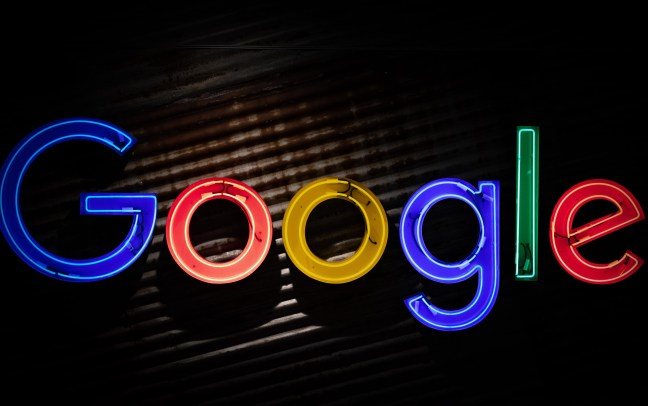 Google neon lights