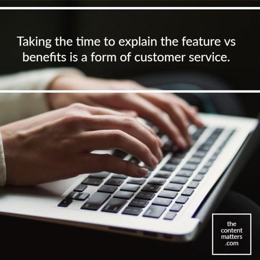 feature vs benefit