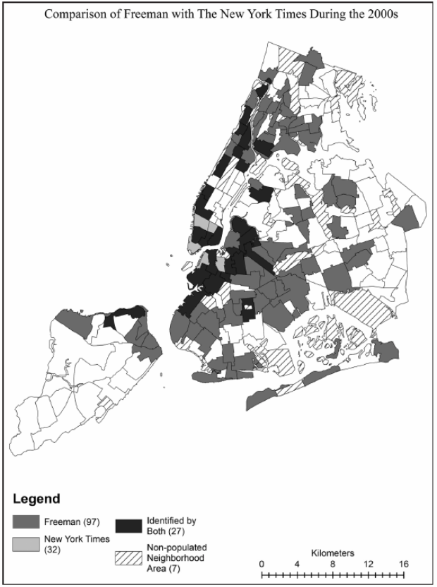 Freeman vs. NYT Gentrification Study