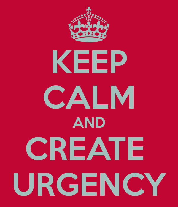 how can you create business urgency with limited resources the