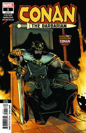 Cover art for Marvel Comics' CONAN THE BARBARIAN #1 2nd print by Mahmud Asrar