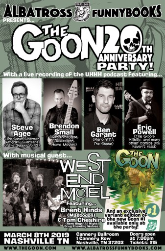 Poster for THE GOON 20th Anniversary Party