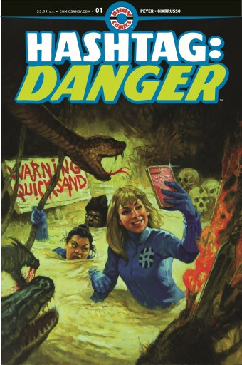 Cover of AHOY Comics Hashtag Danger