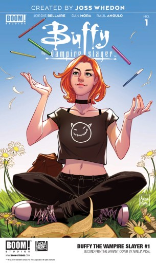 Cover of BOOM! Studios BUFFY THE VAMPIRE SLAYER #1 2nd printing by Amelia Vidal