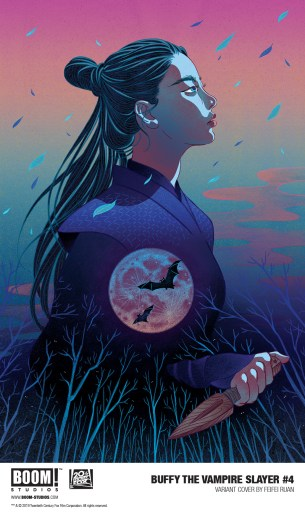 Cover of BOOM! Studios BUFFY THE VAMPIRE SLAYER, art by FeiFei Ruan