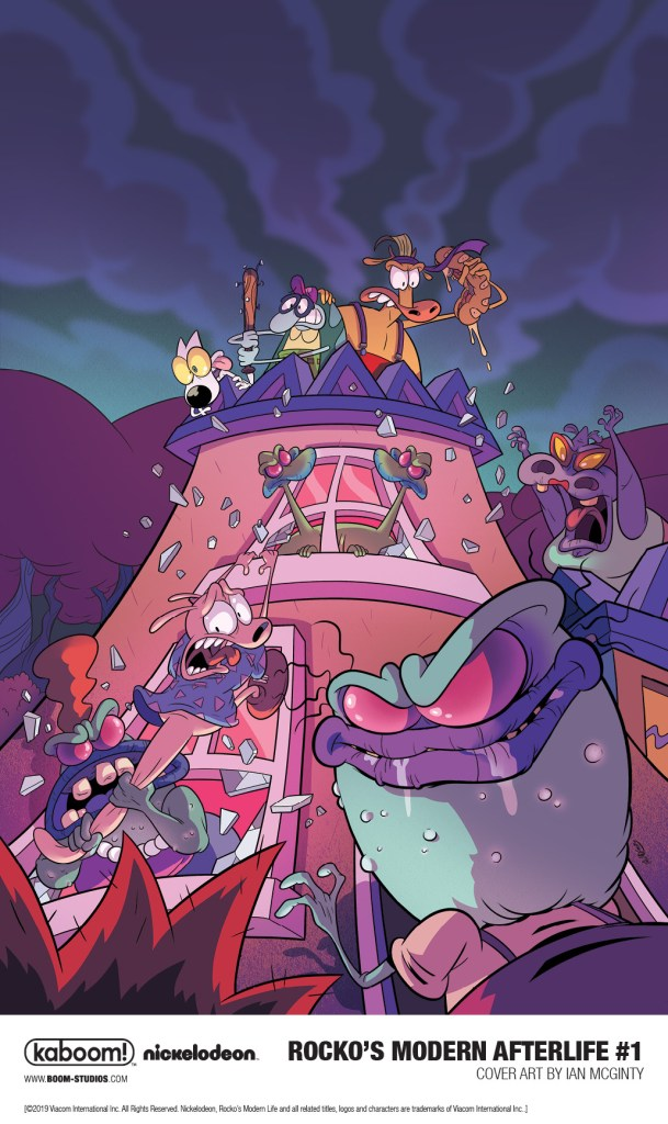 Main cover of BOOM! Studios' ROCKO'S MODERN AFTERLIFE