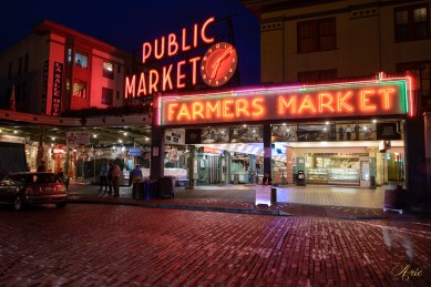 Pike place market after closing