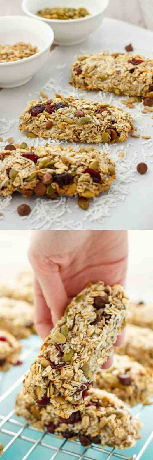 Three Ingredient Banana Granola Bars #easy