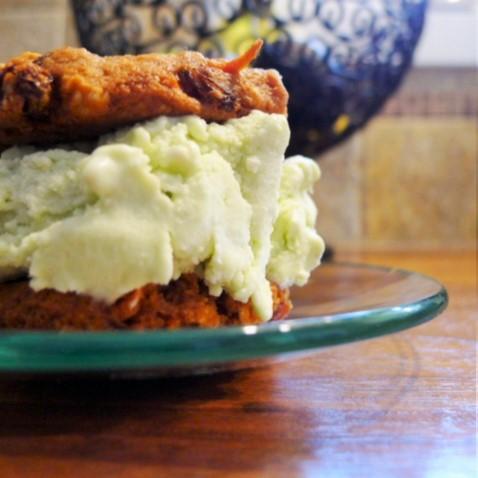Carrot Cake Cookie Ice Cream Sandwich