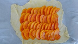 arrange the peaches