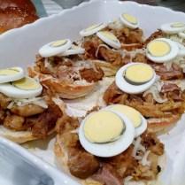 Add-in sliced hard-boiled eggs