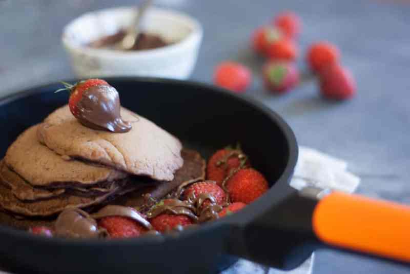 Receta pancakes de chocoalte