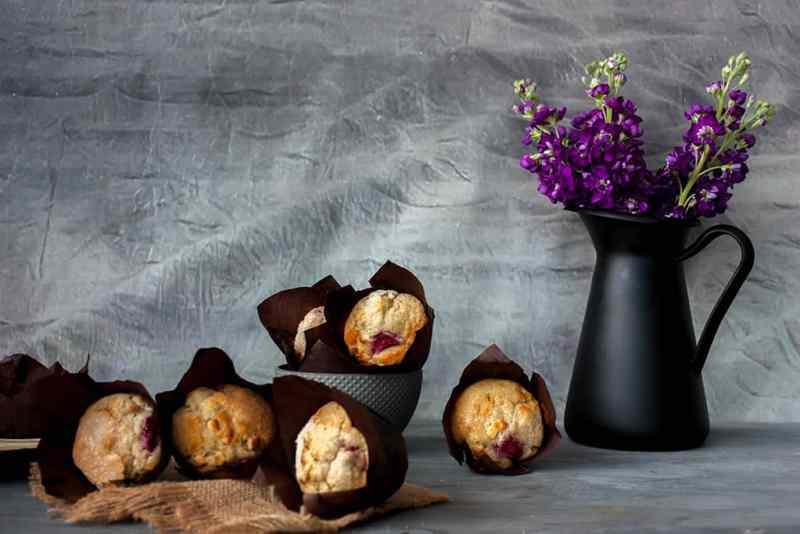 Receta de muffins con frambuesas