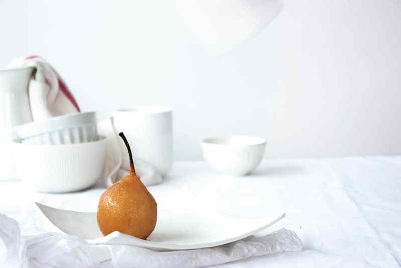 como hacer peras en almibar