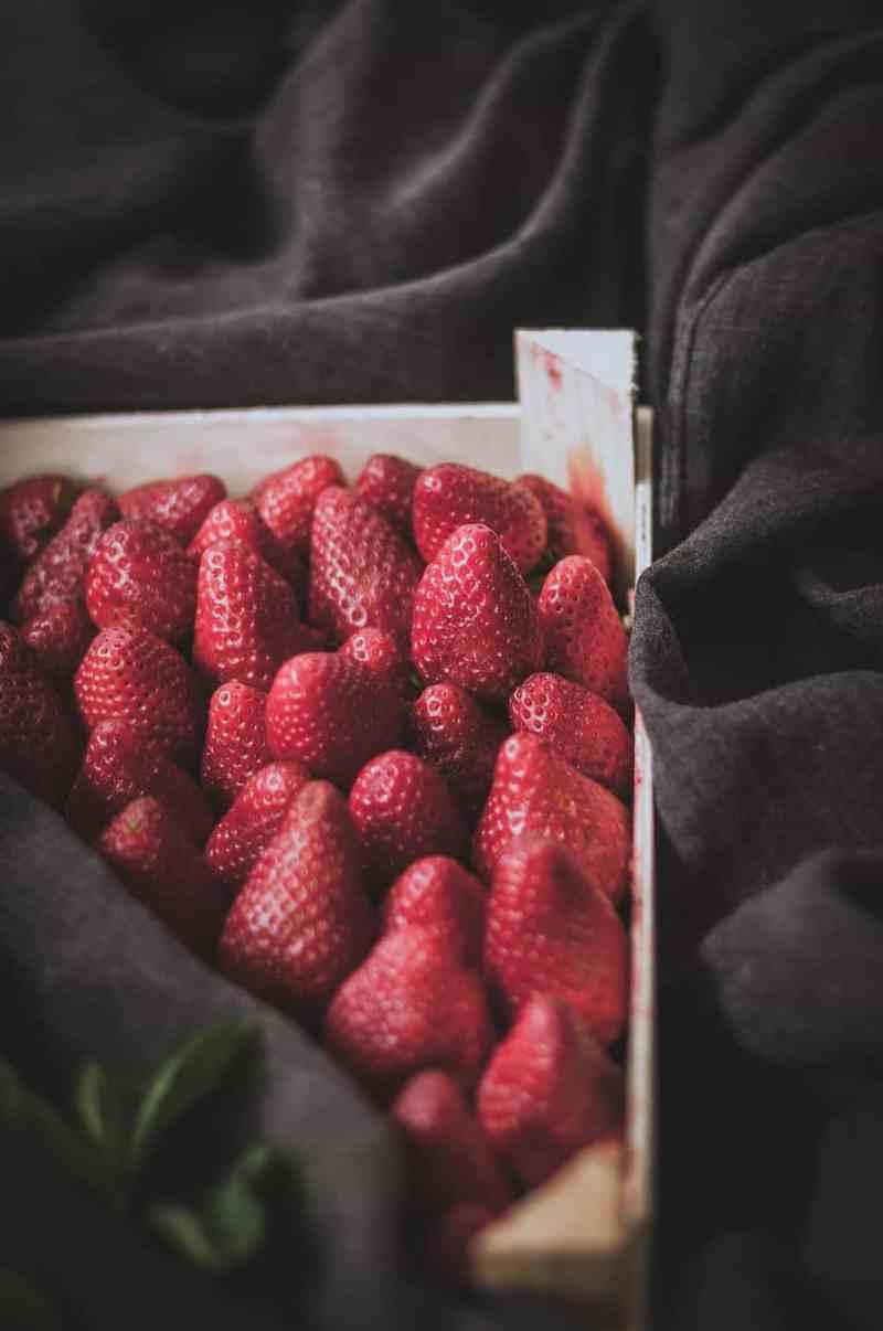 fresas en el horno