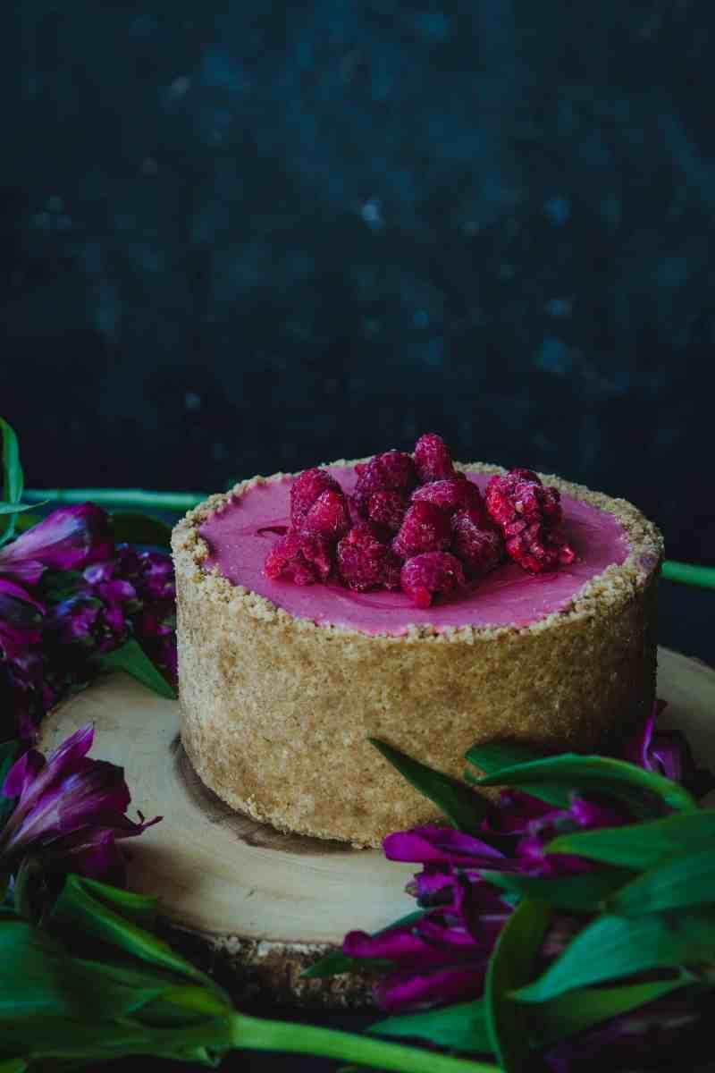Cheesecake de frambuesa sin horno