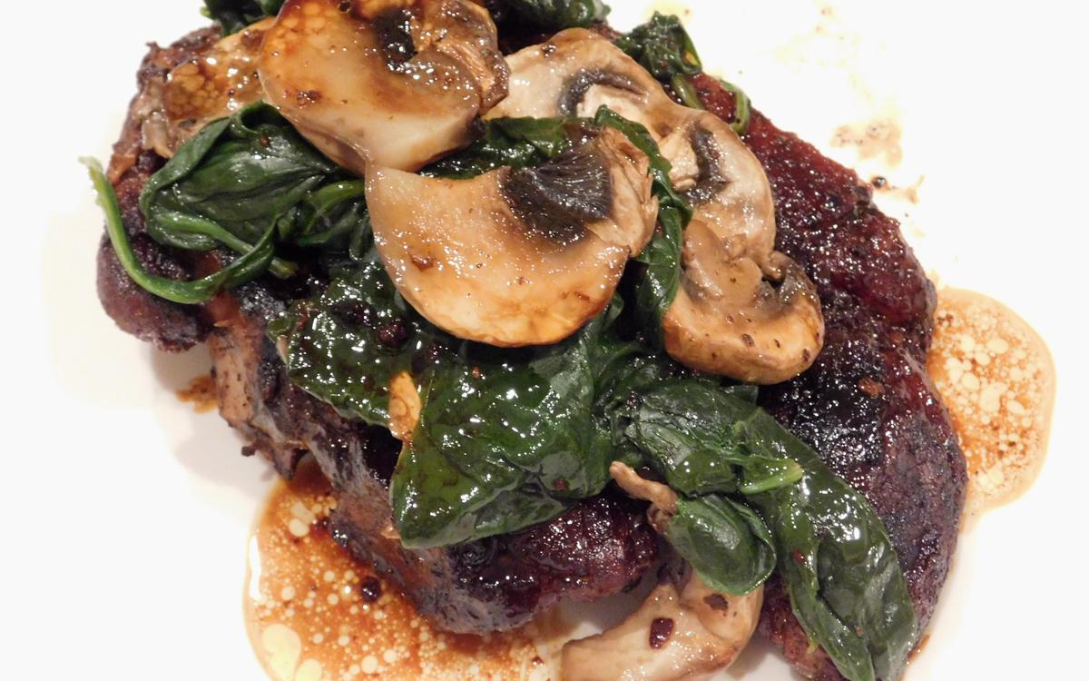 One-Pan Pork Chop Mushrooms Spinach